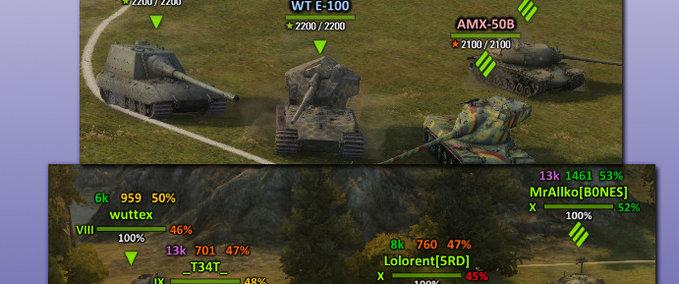 WOT: Aslains XVM Mod v 0 8 10 Mod Packs Mod für World Of Tanks