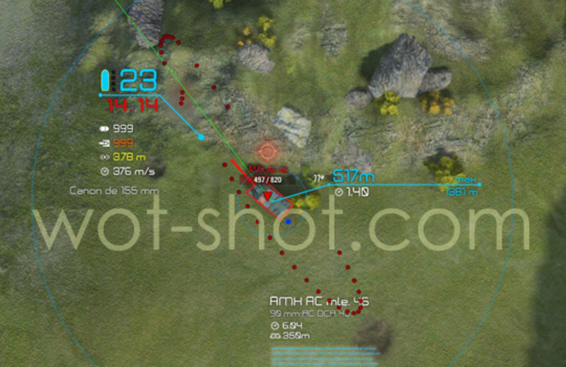 artillery sight mod world of tanks