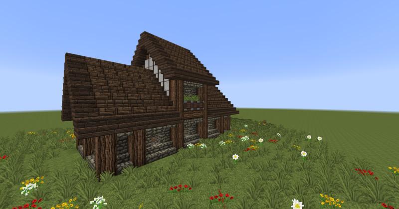 Minecraft minecraft medieval house v 1 7 4 maps mod für minecraft