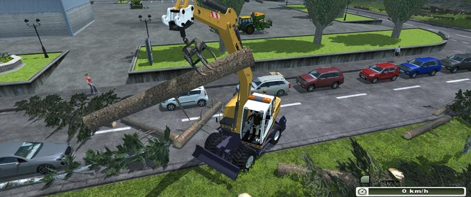 Excavator suspension for forestry pliers v 1.0 image