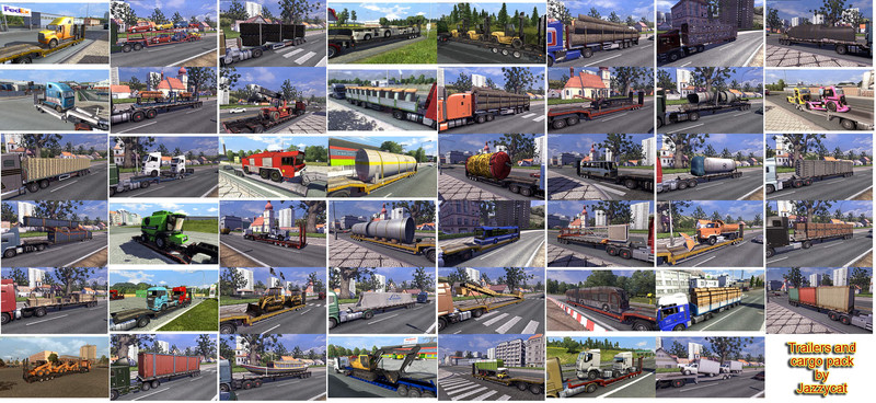 Euro Truck Simulator 2 Пак прицепов и грузов v2.3 Trailers and Cargo