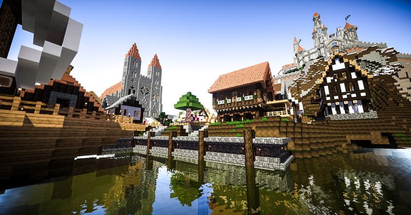 Minecraft mittelalter stadt mit burg v 1 7 5 maps mod f r for Minecraft modernes haus download 1 7 2