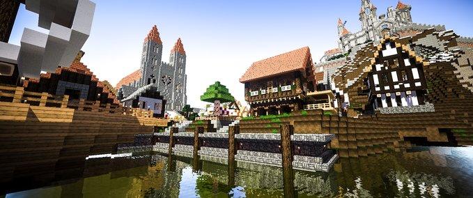 Mittelalter-stadt-mit-burg