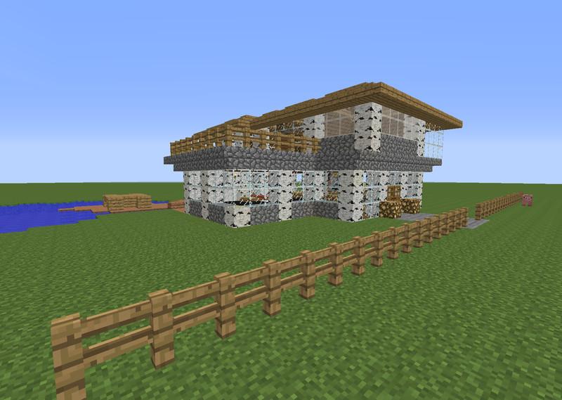 minecraft sch nes haus v 1 0 maps mod f r minecraft. Black Bedroom Furniture Sets. Home Design Ideas