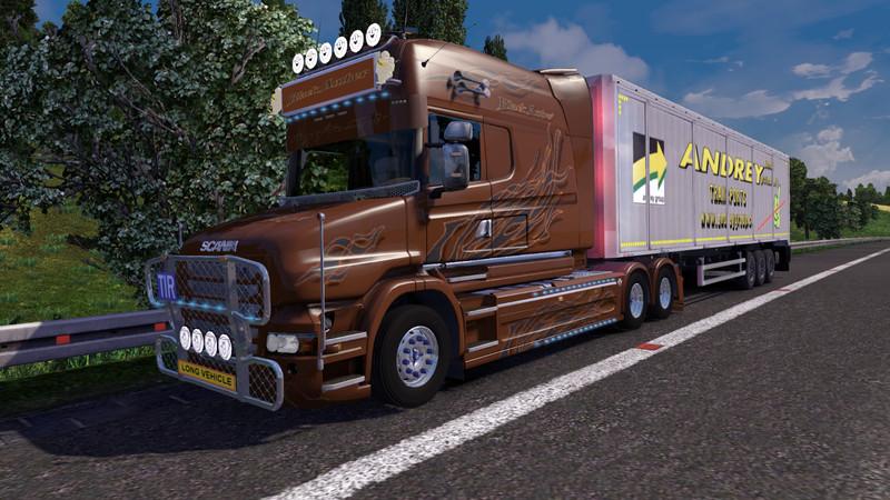 ets 2 scania t longline black amber v 2 0 skins mod f r eurotruck simulator 2. Black Bedroom Furniture Sets. Home Design Ideas