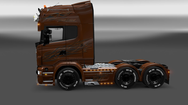 ets 2 scania v8 black amber v 1 trucks mod f r eurotruck simulator 2. Black Bedroom Furniture Sets. Home Design Ideas