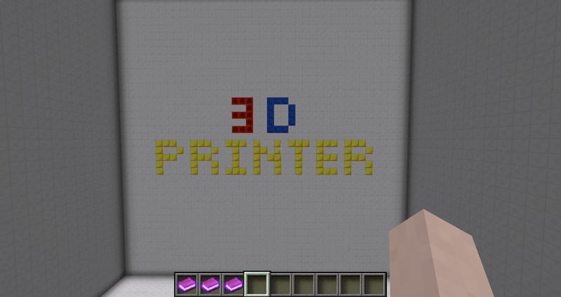 Minecraft: 3D Printer Printers v 0 9 Mods Mod für Minecraft