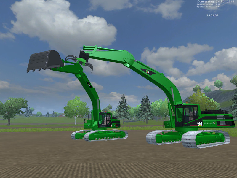 CAT 345B Pack Im Forstskin V 4.1