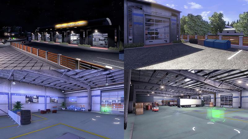 Ets 2 Custom Large Garage Type B V Mods Mod F R