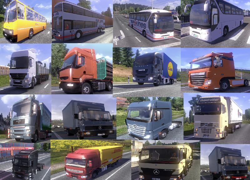 ETS: Mega AI Traffic Mod v 3 7 AI Mod für Eurotruck Simulator