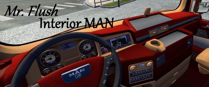 MAN Interior Cream Red v 1.10 ets2 image