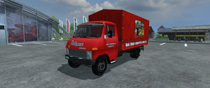 Hanomag F65 Flatbed special model quot Rothaus brewery quot v 1.0 image