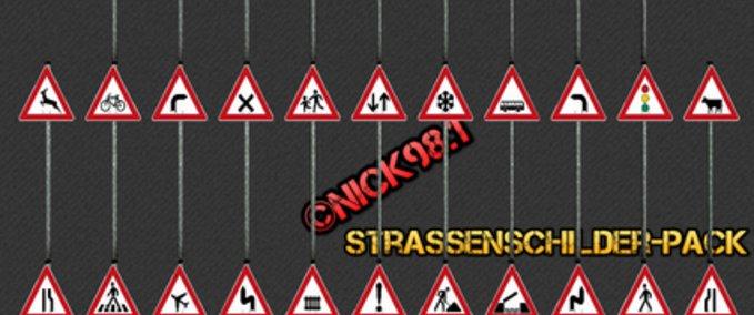 Fs 2013 Road Signs Pack V 3 2 Objects Mod F 252 R Farming