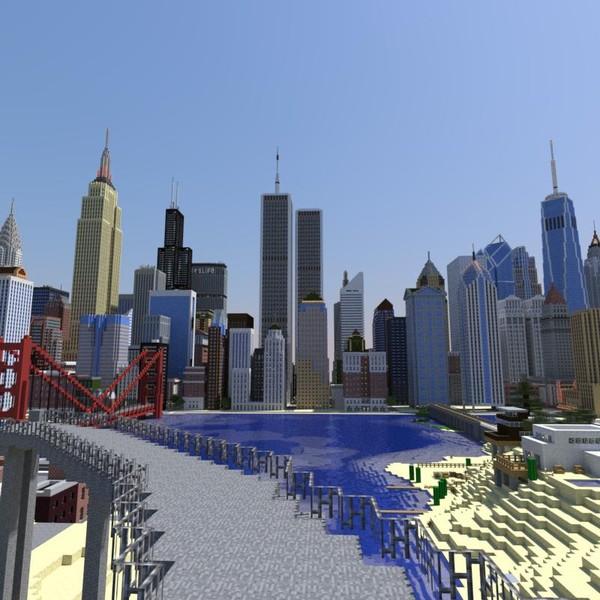 Minecraft: American Biggest Cities Map v 1 0 Maps Mod für Minecraft