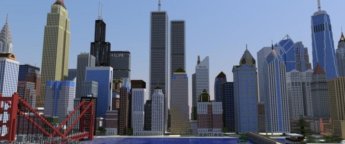 Minecraft American Biggest Cities Map V Maps Mod Für Minecraft - Wie downloade ich maps fur minecraft