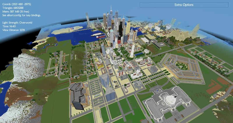 Minecraft American Biggest Cities Map V 1 0 Maps Mod F 252 R