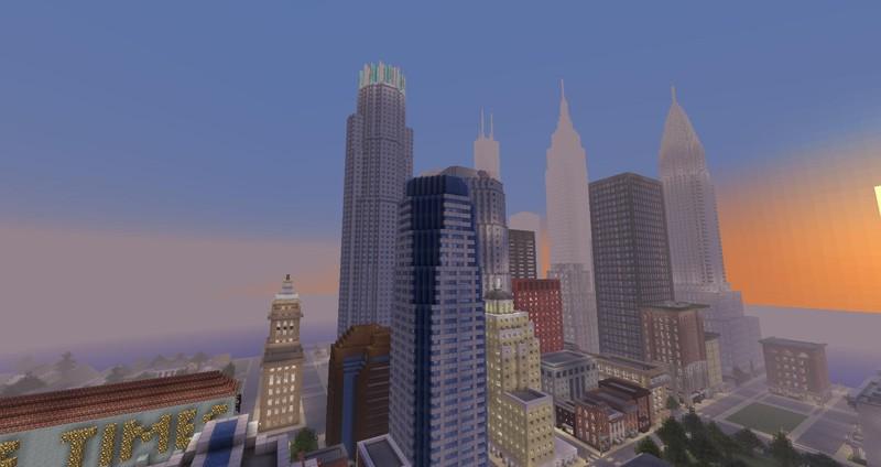 Minecraft: American Biggest Cities Map v 1 0 Maps Mod für