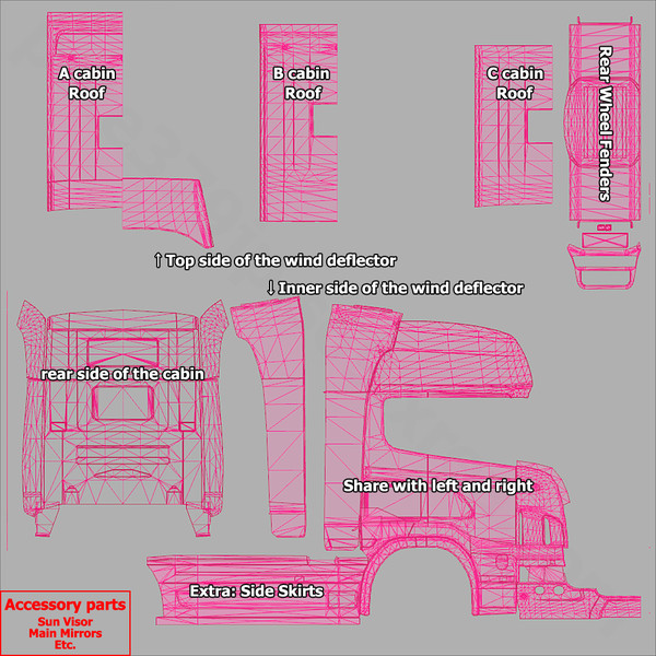 ets 2 truck skin templates v 1 0 tools mod f r eurotruck simulator 2. Black Bedroom Furniture Sets. Home Design Ideas