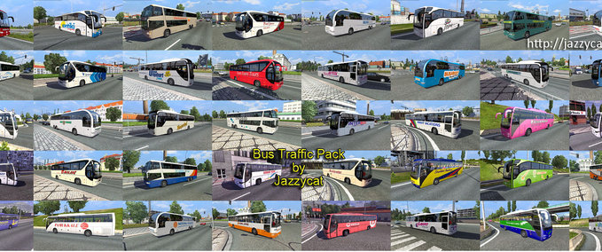 ETS 2: Bus traffic pack v 1 1 1 AI Mod für Eurotruck Simulator 2