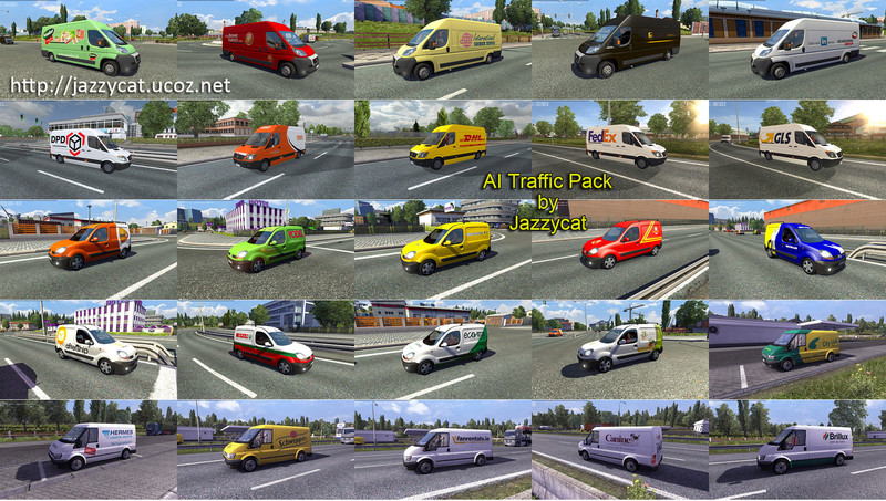ETS 2: AI Traffic Set v 2 3 7 AI Mod für Eurotruck Simulator 2