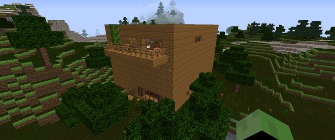 minecraft haus in den bergen v 1 7 maps mod f r minecraft. Black Bedroom Furniture Sets. Home Design Ideas