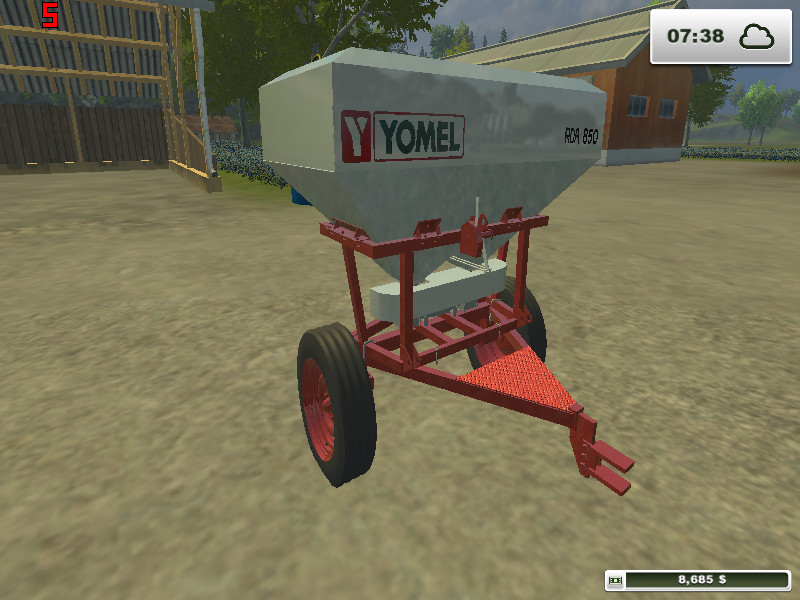 Fs 2013 Fertilizadora Yomel Rda 850 V 1 0 Sprayers Fertilizer Mod Für Farming Simulator 2013