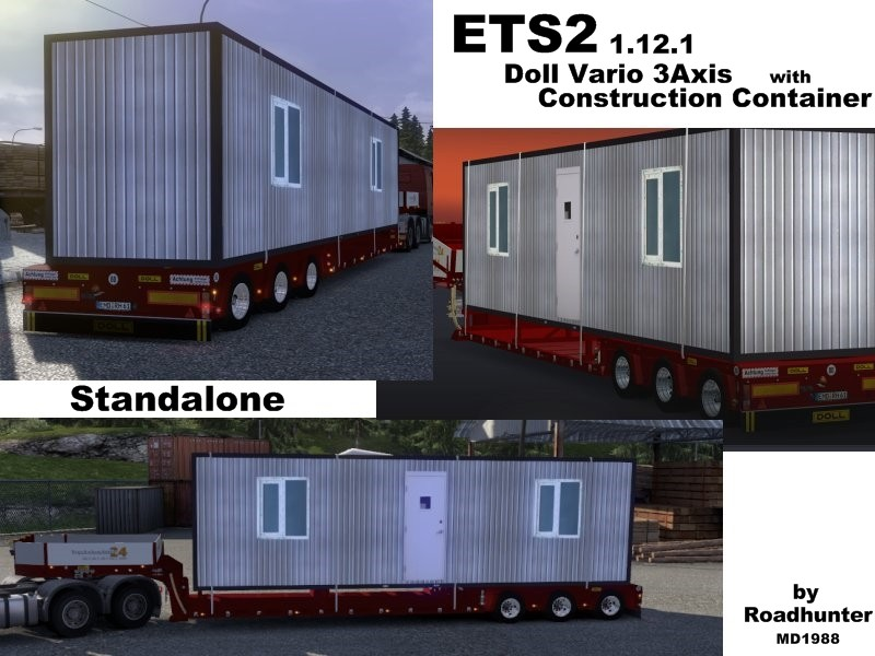 Ets 2 doll vario 3axis v 1 0 standalone trailer mod f r for Construction container