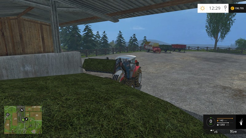 FS 15: Shovel with Grass and Straw v 1 1 front loader Mod für
