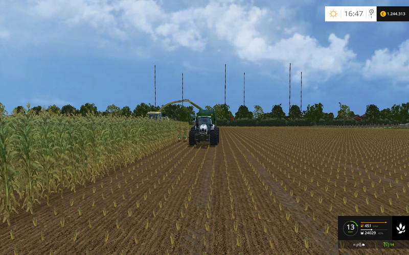 how to change straw on combine fs17