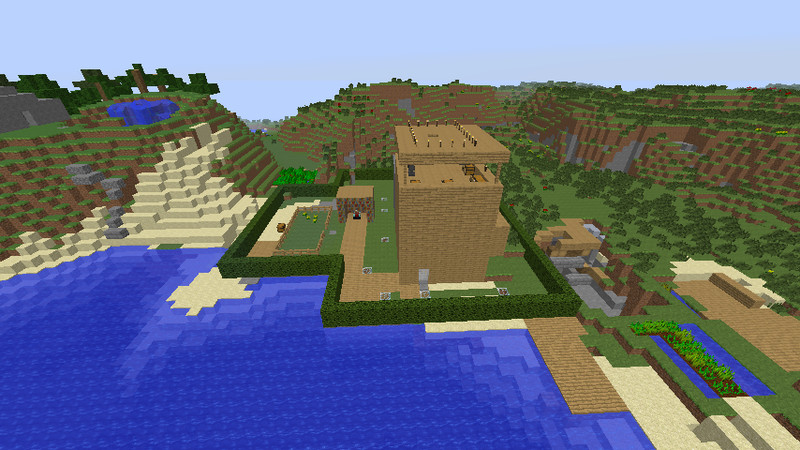 Minecraft holzhaus v 1 7 2 maps mod f r minecraft for Minecraft holzhaus