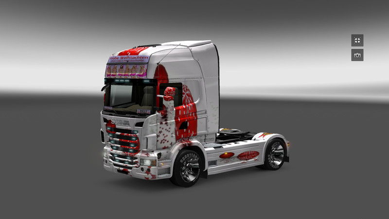 ets 2 frohe weihnacht v skins mod f r eurotruck. Black Bedroom Furniture Sets. Home Design Ideas