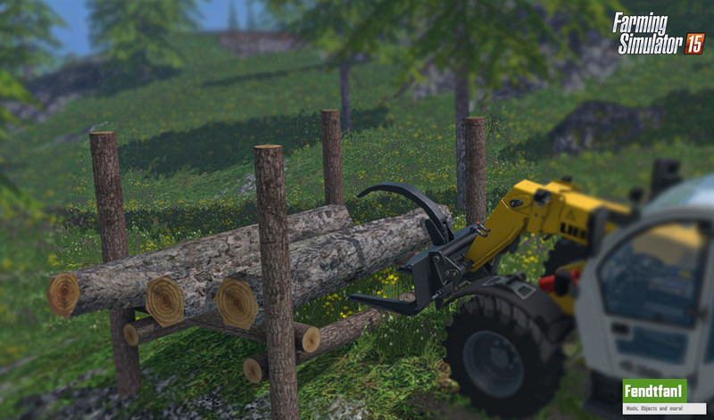 FS 15: Placeable timber storage v 1 0 Placeable Objects Mod