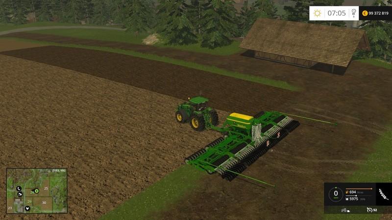 Biggest Seeder Of John Deere: FS 15: John Deere Multi Seeder 18L Pack V 1.0 Seeders Mod