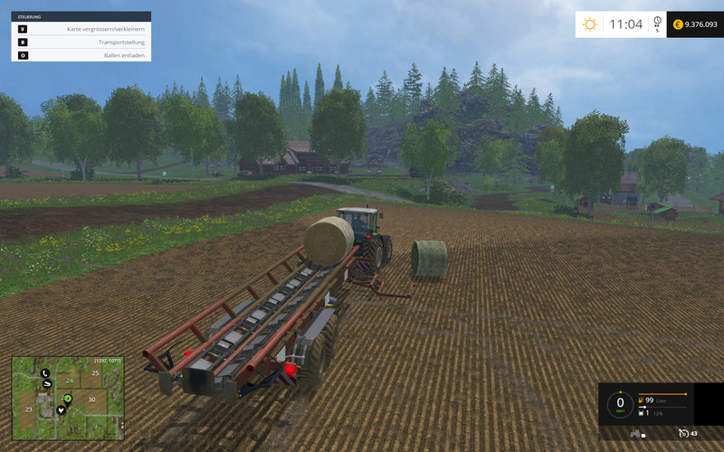 FS 15: v 1 0 1 bale transport Mod für Farming Simulator 15