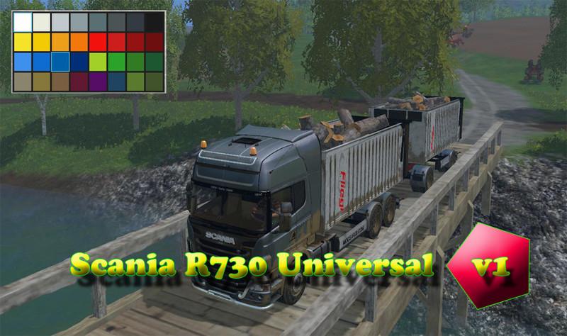 FS 15: Scania R730 Universal v 1 0 Scania Mod für Farming Simulator 15