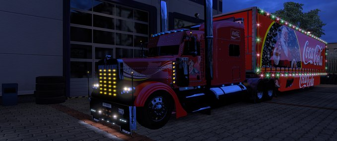 Optimus-prime-peterbilt-389-xmas