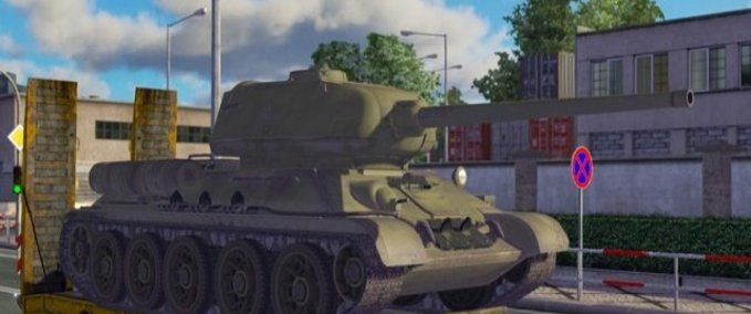 Trailer-with-a-t-34-85-tank
