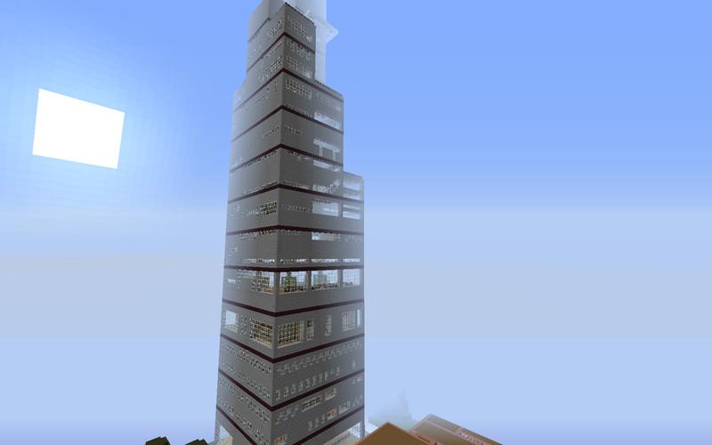 Minecraft luxus hotel mit hochhaus v 2 1 maps mod f r - Minecraft hochhaus ...
