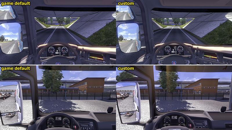 ETS 2: Customized camera FOV v 1 2 Interieurs Mod für