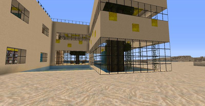 Minecraft Einrichtung Wohnzimmer Modernes Strandhaus V