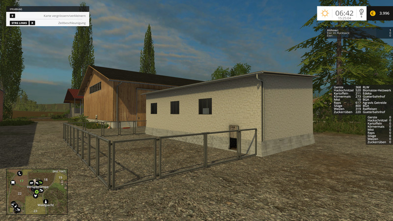 fs 15 fence with gate v 1 0 buildings with functions mod. Black Bedroom Furniture Sets. Home Design Ideas