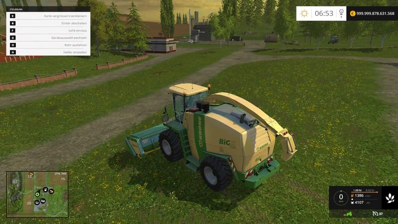 Ls 15 Krone Bigx 1100 V 1 0 Krone Mod F 252 R Landwirtschafts