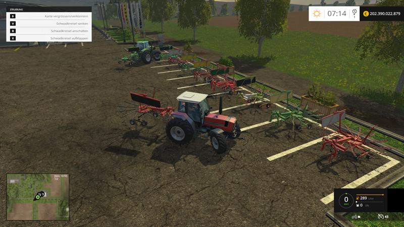 FS 15: Windrower BIG Set v 1 0 Tedders Mod für Farming