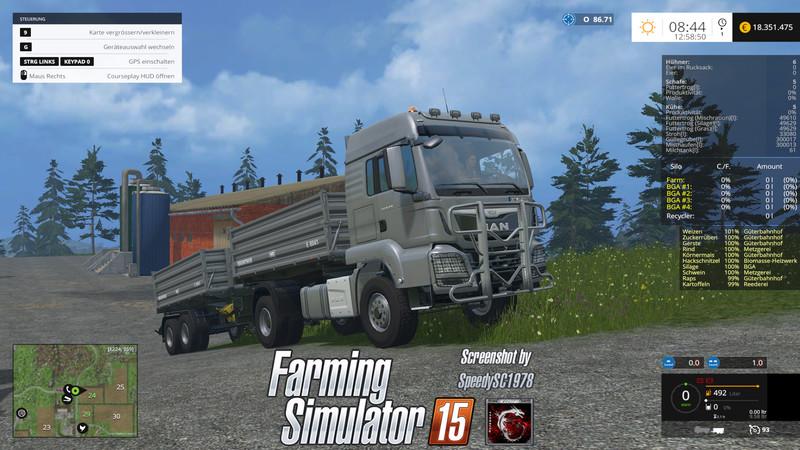 FS 15: MAN TGS S dump truck with trailer v 1 4 MAN Mod für