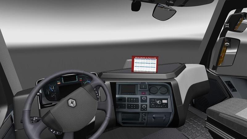 ets 2 renault range t original interior v renault