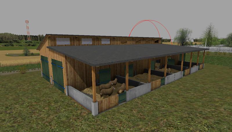 sheep farming shed