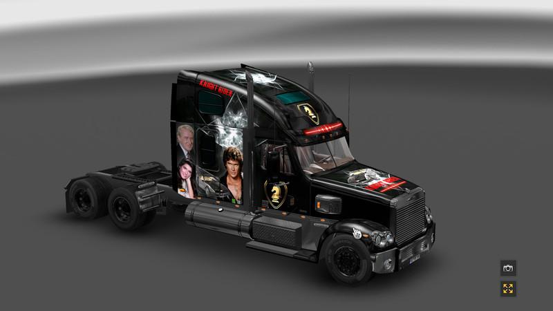 ets 2 knight rider v 1 0 skins mod f r eurotruck simulator 2. Black Bedroom Furniture Sets. Home Design Ideas