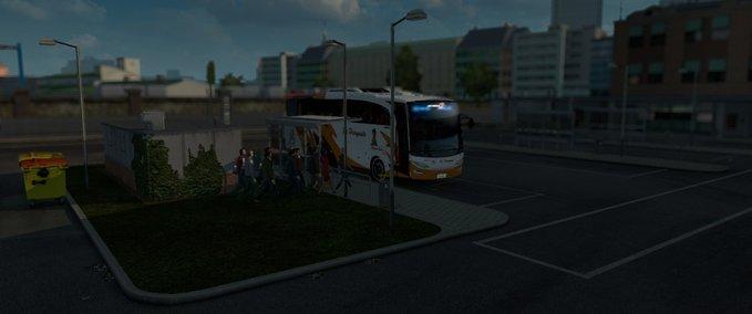 bus passenger transport and terminal mode