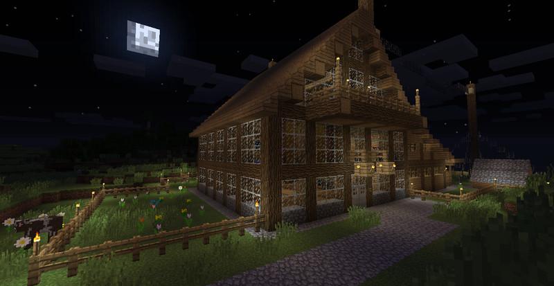 minecraft kleines haus mit stallung v 1 0 maps mod f r. Black Bedroom Furniture Sets. Home Design Ideas