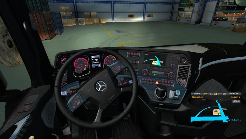 Ets 2 Mercedes Benz Mp4 Regenbogen V 1 0 Interieurs Mod